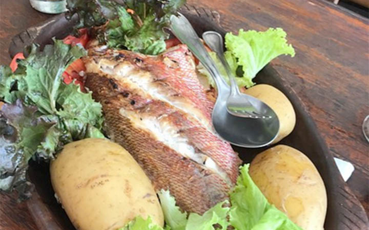 Restaurante Ponta do Pirambu - Peixe com batatas