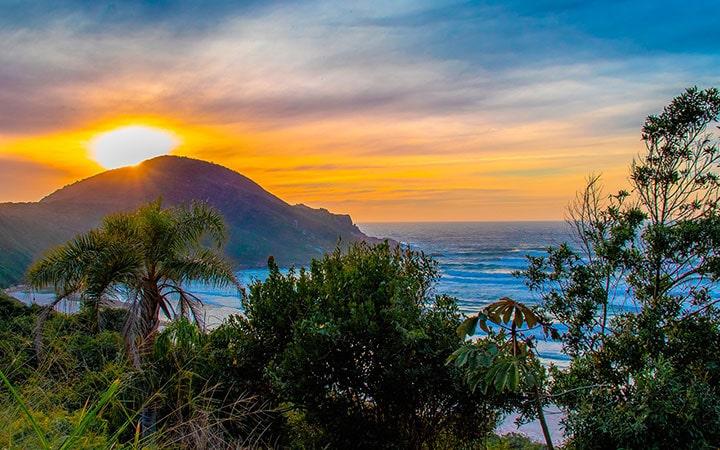 Pôr do sol na Praia do Rosa