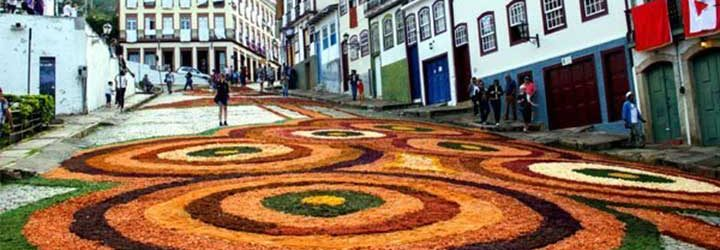 Semana Santa - Tapete de Páscoa em Ouro-Preto