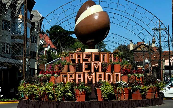 Decoração de Páscoa em Gramado