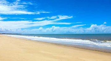 Orla da Praia de Novo Prado Praias no Sul da Bahia
