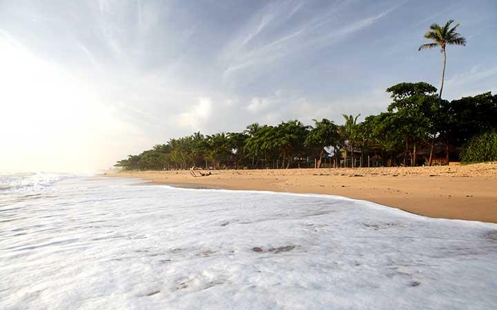 Orla da praia em Caraíva - BA