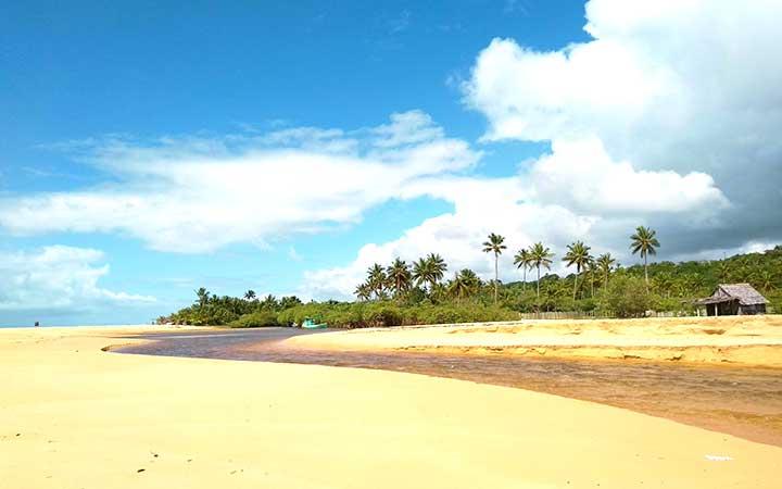 Praia de Trancoso na Bahia