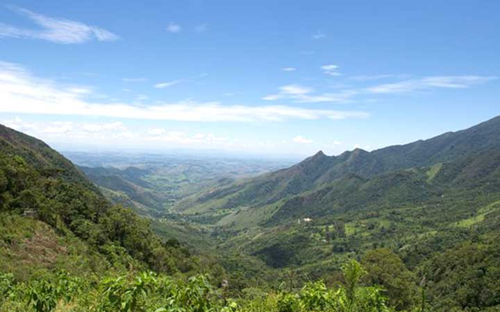 Vista das montanhas na Serra da Bocaina
