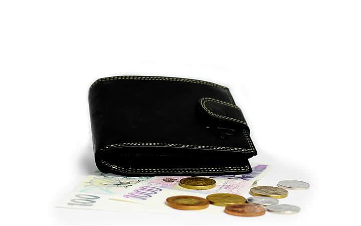 Carteira Preta com Dinheiro