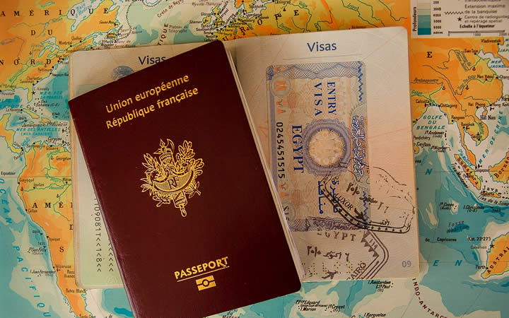 Passaporte e Mapa