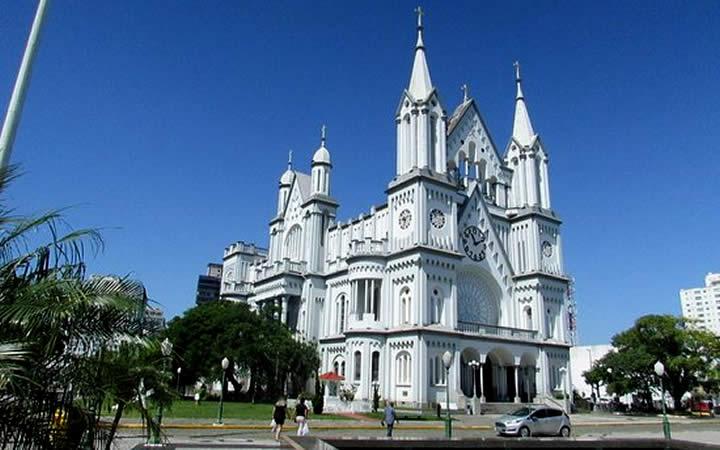 Vista Lateral Igreja Matriz Itajaí SC