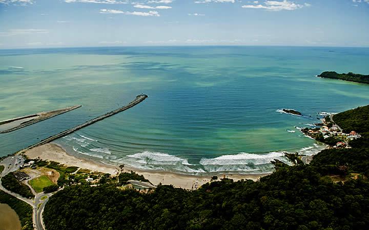 Vista Praia de Itajaí SC