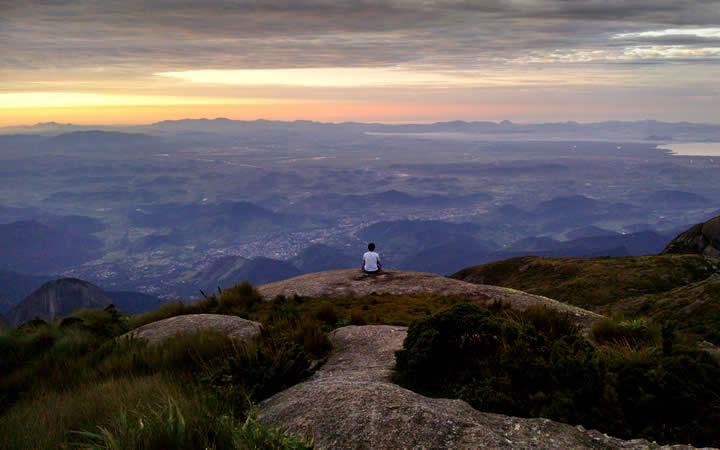 Vista das Montanhas Pedra do Sino Teresópolis