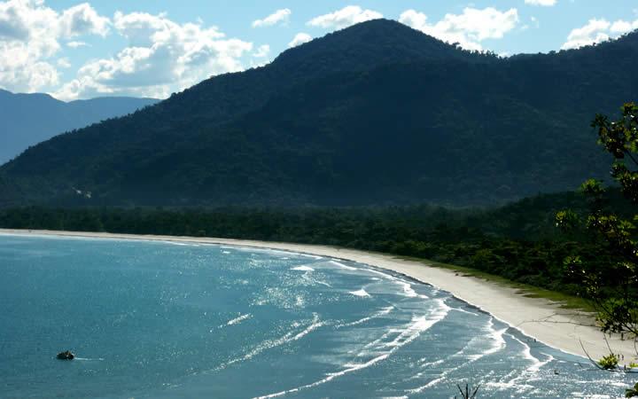 Vista do mar Parque Serra do Mar SP