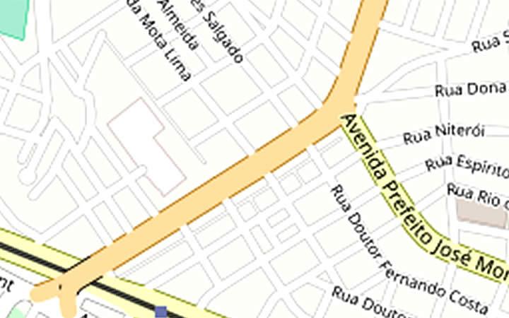 Mapa da cidade de São Vicente