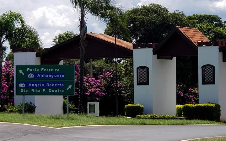 Placa de localização cidade de Santa Rita SP
